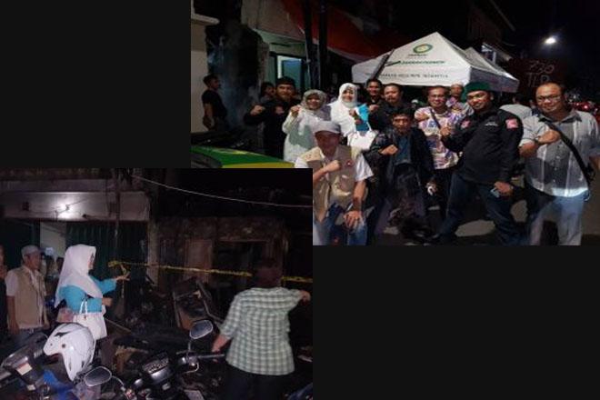 Ketum Bang JAPAR Turun ke Lokasi Kebakaran di Senen Jakarta Pusat