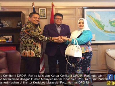 Merah Putih Terpasang Terbalik, DPD RI Sambangi Kedubes Malaysia