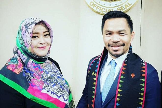 Jumpa Fahira Idris, Manny Pacquiao (Pacman) Ingin Berkunjung Ke Jakarta