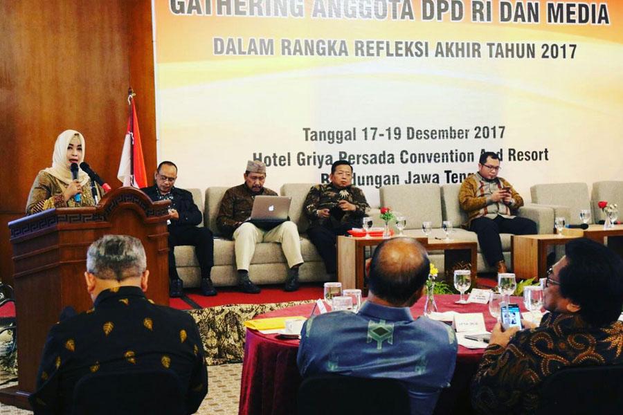 Gathering DPD RI Bersama Media, Saya Paparkan Capaian & Rencana Komite III b