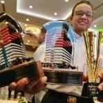 Senator DPD RI Fahira Idris memberikan ucapan selamat atas raihan penghargaan yang didapat pemprov DKI Jakarta dari Komisi Pemberantasan Korupsi.