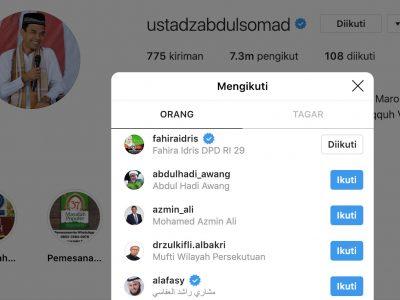 Fahira Idris Bersyukur Di Follow UAS di Instagram